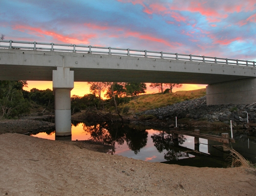 Which truck was my concrete bridge designed to carry (in Queensland, Australia)?